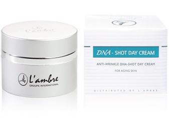 Омолаживающий дневной крем косметической линии средств для ухода за кожей DNA-SHOT парфюмерно-косметической компании Ламбре (Lambre)