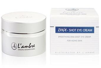 Разглаживающий крем для кожи вокруг глаз косметической линии средств для ухода за кожей DNA-SHOT парфюмерно-косметической компании Ламбре (L'ambre)