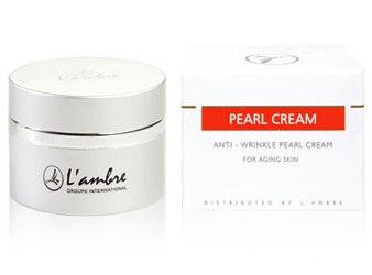 Увлажняющий крем для всех типов кожи косметической линии средств для ухода за кожей PEARL парфюмерно-косметической компании Ламбре (L'ambre)